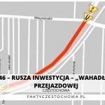 """DK-46 – RUSZA INWESTYCJA – """"WAHADŁO"""" NA PRZEJAZDOWEJ"""